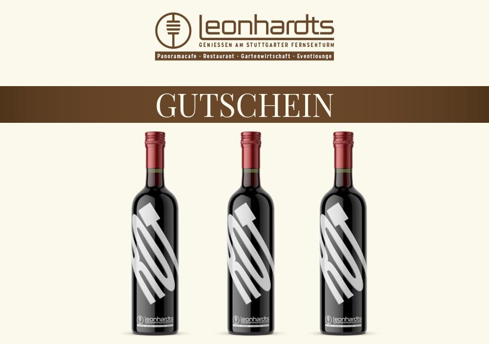 Wein-Geschenkset Fernsehturm (rot)