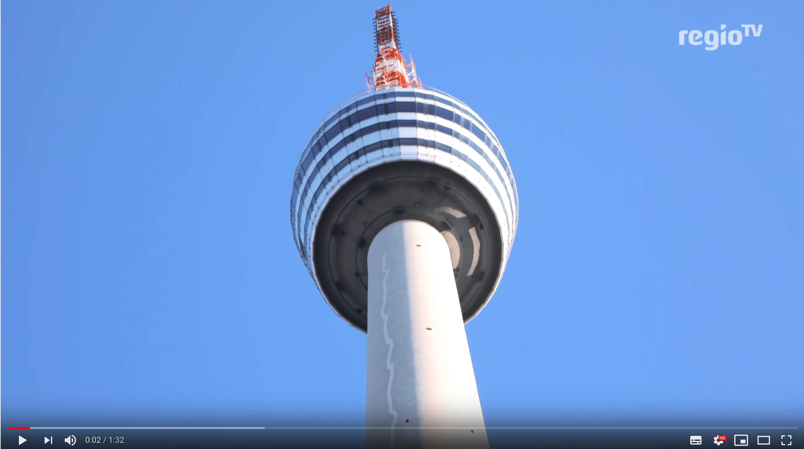Stuttgarter Fernsehturm feiert seinen 63. Geburtstag